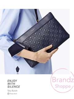 💥💥💥HOT ITEM! 💯% Authentic Tory Burch Women Fleming Clutch / Large Ladies Pouch @ Ready Stock (Black) >> Only 1 Unit 👍