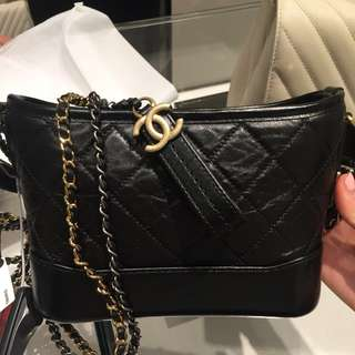 Chanel Gabrielle Hobo Black