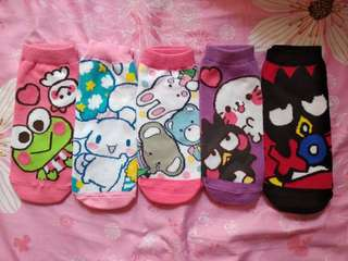 Sanrio characters socks 三麗鷗卡通短襪