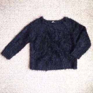 Dotti furry cropped jumper