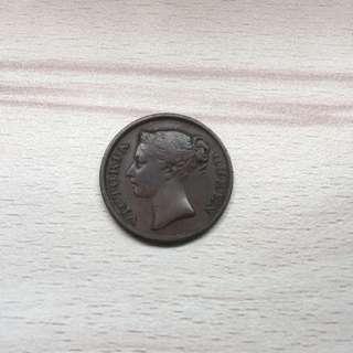 Straits East India Company 1845 1/2 Cent