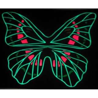 Acc Interior Lampu LED Dance Kupu Kupu Equalizer Sensor Suara Banyak Motif Untuk Di Mobil Kaos Topi