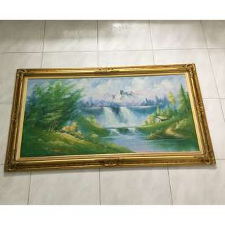 Oil painting on canvas 124x61cm