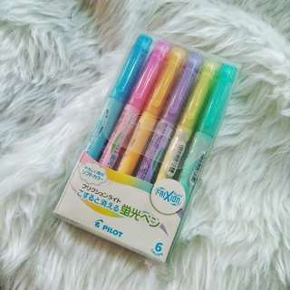 Pilot Frixion Highlighters (Pastel)