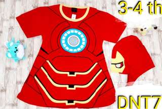 dress baju anak karakter iron girl kostum costume superhero topeng OKE