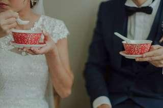 Wedding / Guodali bowls and spoon set