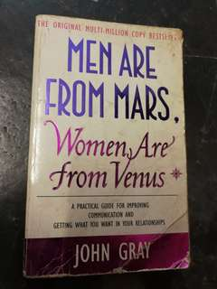 Men Are From Mars Women Are From Venus John Gray Book
