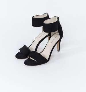 Mercci22 繞踝高跟涼鞋 黑