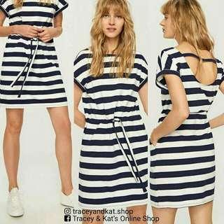 Stripe Dress With Pockets