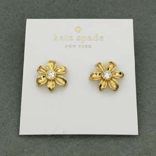 Kate Spade Sample Earrings 金色花花閃石耳環