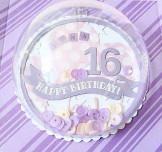 🚚 Happy sweet 16 Explosion Box card with Shaker Bauble globe