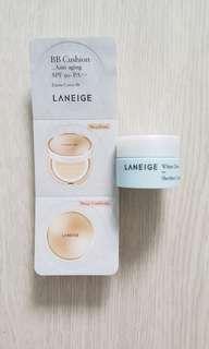 Laneige BB Cushion & White Dew Sherbet Cream