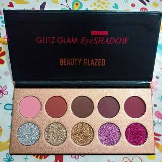 New beauty glazed glitz glam eyeshadow pressed glitter pallete