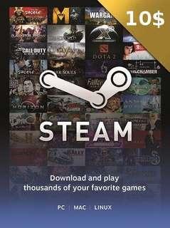 Steam $10USD
