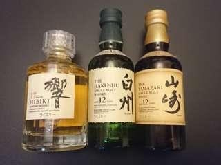 日本威士忌 山崎12 白州12 響17 酒辦