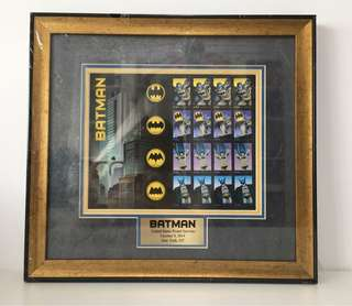 Framed Batman Stamps