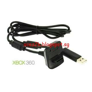 [BN] Xbox 360 Play & Charge Cable For Wireless Controller - White 1.8m (Brand New)