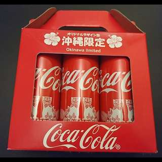 日本 可口可樂 coca cala 沖繩限定 一套3枝