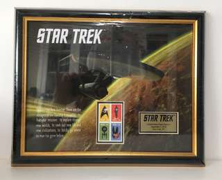 Framed Star Trek Stamps