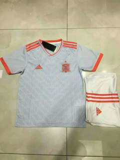 JERSEY BOLA SPANYOL AWAY KIDS WORLD CUP 2018 GRADE ORI