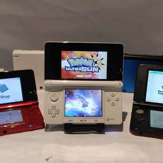Nintedo 3DS Console + 25 Games + Pokemon Ultra Moon / Sun (Modded Game Console)