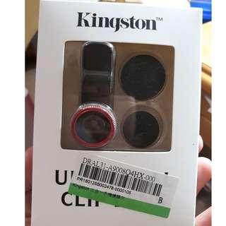 Kingston 三合一手機鏡頭夾 魚眼 廣角 微距