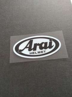 Arai Logo Helmet Decal Sticker 7cm
