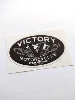 Victory Motorcycles Motorbike Decal Sticker 10cm x 5.8cm