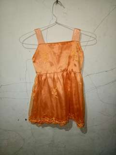 Dress orange anak