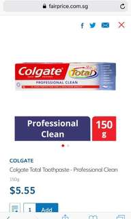 🚚 Colgate Toothpaste