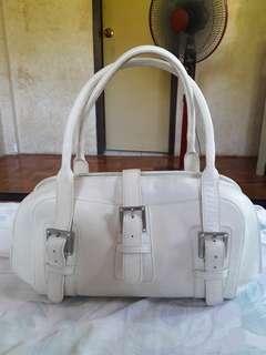 Il SACCO MILANO Genuine Leather White Shoulder Bag