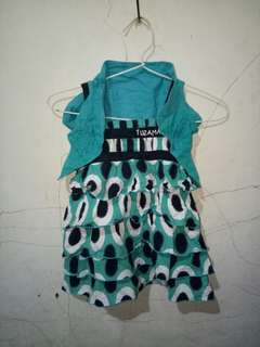 Dress anak hijau