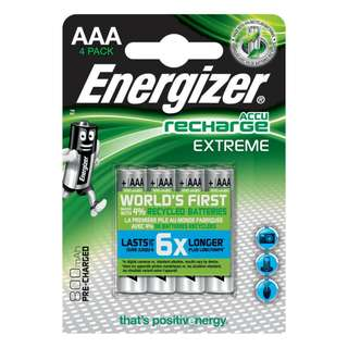 {MPower} 全球第一 勁量 Energizer 低放電 3A, AAA 800mAh Rechargeable Battery 充電池 叉電 (日本製) 原裝行貨