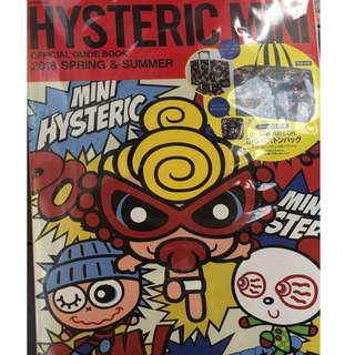 HYSTERIC MINI OFFICIAL GUIDE BOOK 2018 SPRING & SUMMER 黑超b 旅行袋