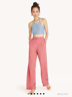 Pomelo Center Pleated Pink Pants