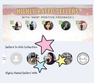 [ALERT!] HIGHLY RATED SELLER BY CAROUSELL!