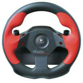 PC Logitech Wingman Formula Force GP Racing Wheel with Pedals (Mint)