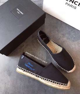 YSL Saint Laurent Espadrilles Flat - black