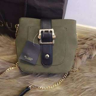 Pull & bear Sling Bag green Army