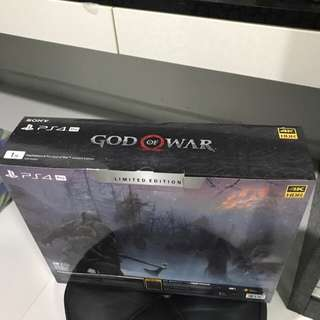 (Brand New) PS4 Pro God of war limited edition