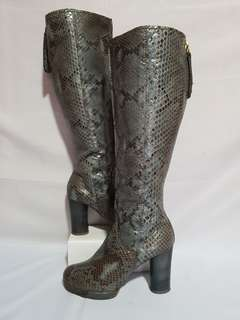 Authentic CHLOE Snakeskin High Boots Size 37