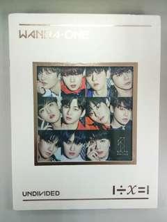 Sealed WANNAONE - UNDIVIDED ALBUM