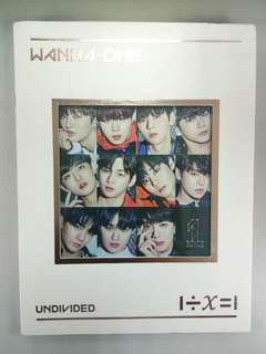 Sealed WANNAONE - UNDIVIDED ALBUM