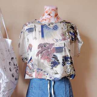 Printed Cotton Tie-up Blouse