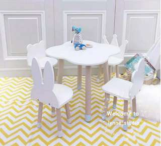 Nordic Children Kids Table and Chair