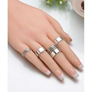 Cincin Fashion Multilayer ring 9 set