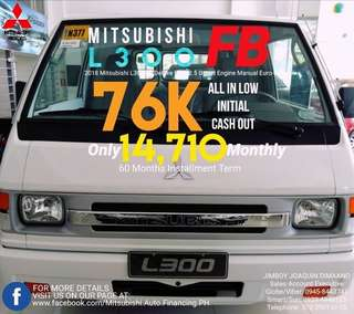 Mitsubishi L300 FB Exceed LOW DOWN Promo SURE Approval NO Minimum Requirements DIAL NOW! 09394948123 or 09458443741