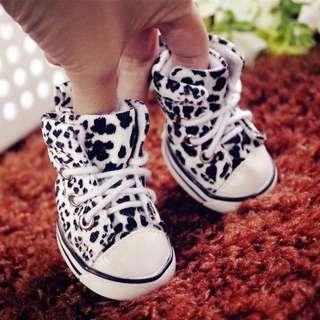 💜 INSTOCK 💜  Platform Black Leopard Printed Lace Shoes