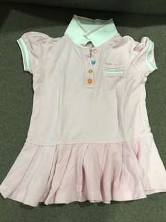 Pink polo T dress designer brand