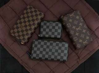LV Double Zipper Long Wallet and Short Wallet
